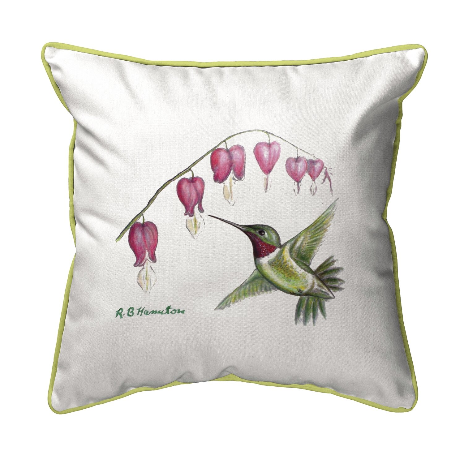 Winston Porter Sinegal Hummingbird Indoor Outdoor Throw Pillow Wayfair