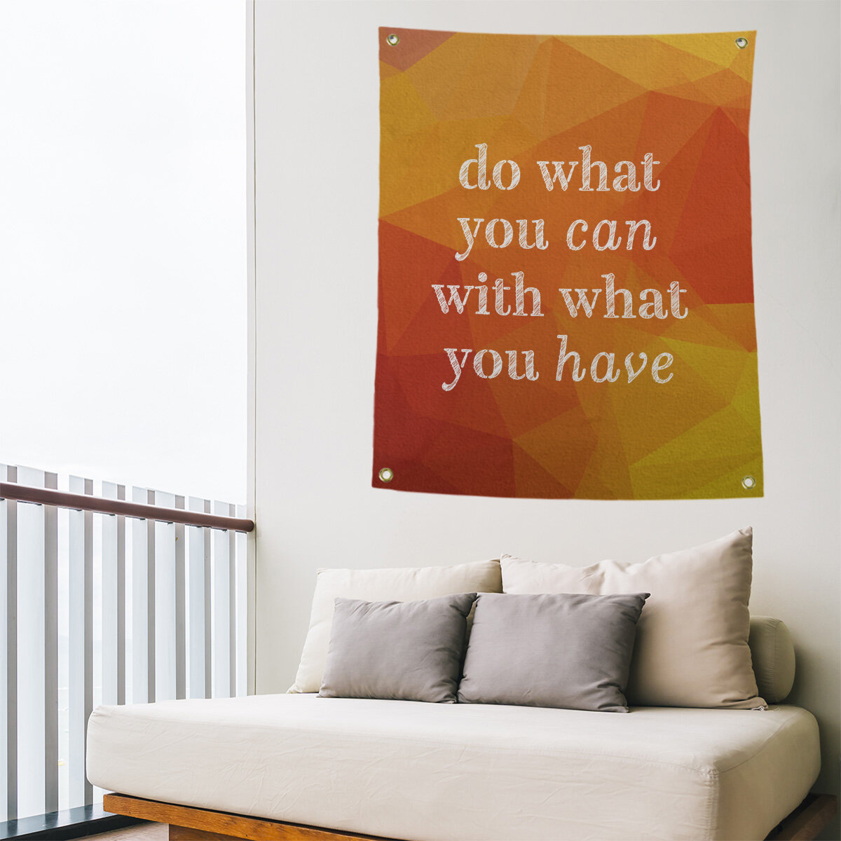 East Urban Home Polyester Faux Gemstone Do What You Can Quote Tapestry Wayfair