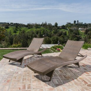 Brayden Studio Gadbois Reclining Chaise Lounge (Set of 2)