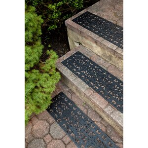 Whetstone Black Fleur Di Lys Stair Tread (Set of 3)