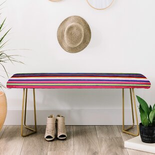 East Urban Home Deb Haugen Faux Leather Bench