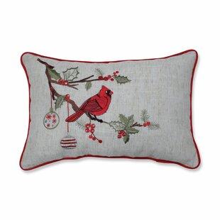 Simons Christmas Cardinal Lumbar Pillow