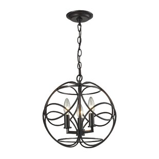 Darby Home Co Kiyoko 3-Light Globe Chandelier