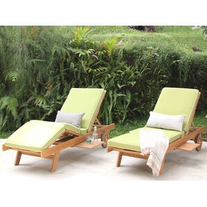 monterey teak chaise lounge with cushion - Outdoor Recliner Chair