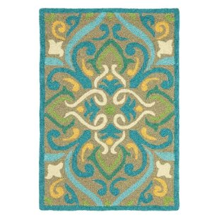 Morocco Aqua Indoor/Outdoor Area Rug