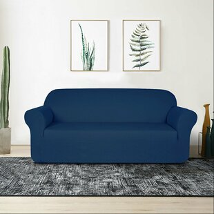 Compare Raised Dots Box Cushion Sofa Slipcover by Winston Porter Reviews (2019) & Buyer's Guide