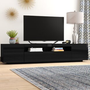 Inexpensive Bustillos Modern High Gloss Front TV Stand for TVs up to 79 by Orren Ellis Reviews (2019) & Buyer's Guide