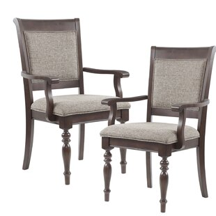 Great Price Beckett Upholstered Dining Chair with Arms (Set of 2) by Madison Park Signature Reviews (2019) & Buyer's Guide