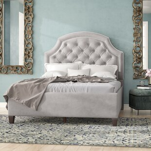 Riviera Upholstered Panel Bed by Rosdorf Park