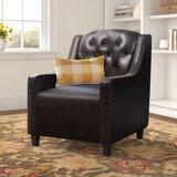 Barnard 29.53 W Tufted Faux Leather Club Chair by Three Posts™