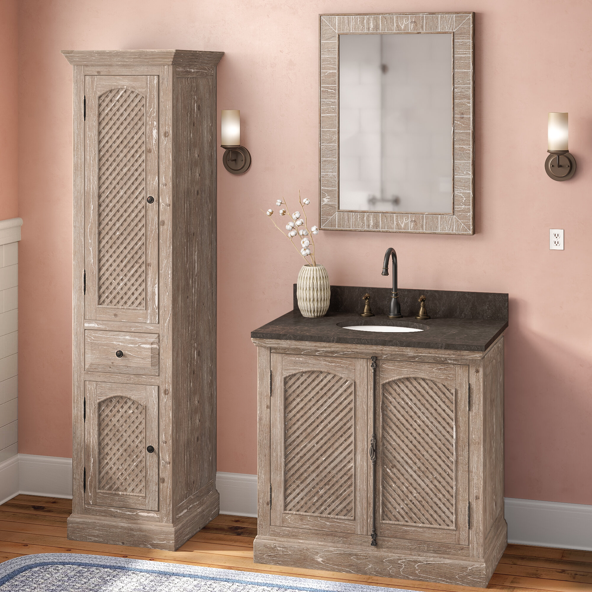 Laurel Foundry Modern Farmhouse Clemmie 37 Single Bathroom Vanity