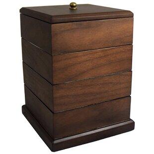 Premium Wooden Swivel Jewelry Box Ikee Design