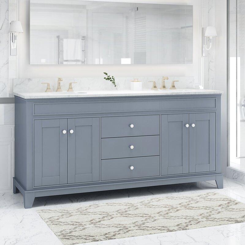 Charlton Home Larosa 73 Double Bathroom Vanity Set Wayfair