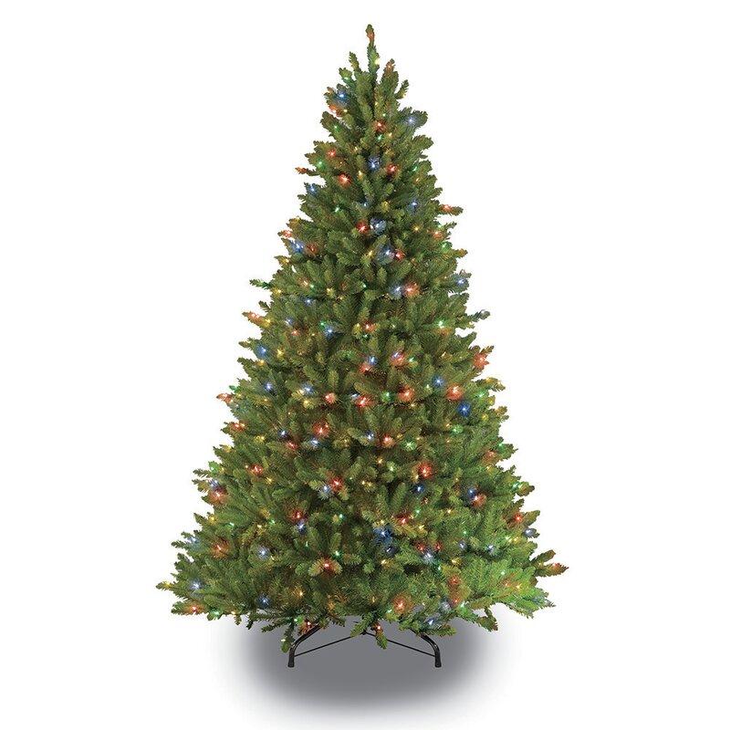 7 5 Foot Artificial Christmas Tree Multi Colored Lights: Puleo International 7.5 Ft. Fraser Fir Artificial