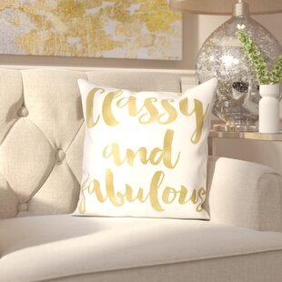 Amy Brinkman Classy Fabulous Gold Throw Pillow