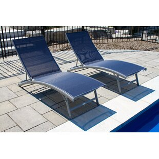 Orren Ellis Bookout Reclining Chaise Lounge Set (Set of 2)