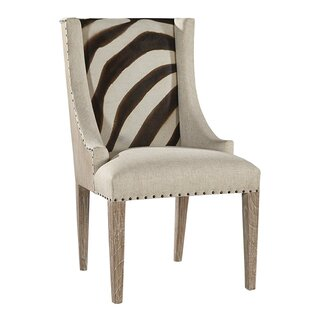 Zebra Scoop Upholstered Dining Chair by F..