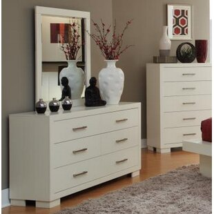 Ebern Designs Hammes 6 Drawer Double Dresser with Mirror Image