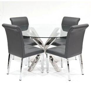 Dining Set With 4 Chairs By Metro Lane
