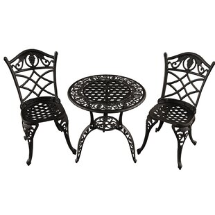 Fleur De Lis Living Casella Grape 3 Piece Bistro Set