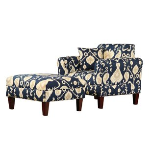Briley Armchair and Ottoman by Carolina Accents