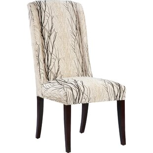 upholstered dining room chairs with arms. High Back Upholstered Dining Chair Fabric Chairs  Wayfair