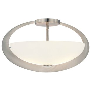 Earring 2-Light Semi Flush Mount by George Kovacs by Minka