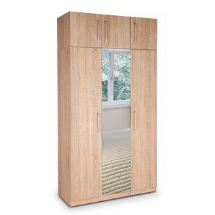 Holborn Plus Mirrored 3 Door Wardrobe By Mercury Row