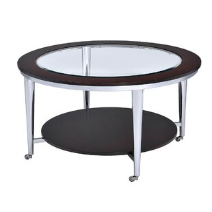 Lindel Glass Inserted Top Coffee Table