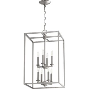 Quorum Cuboid Entry 8-Light Square/Rectangle Chandelier