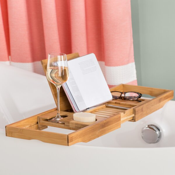 Bamboo Bathtub Caddy Tray | Wayfair