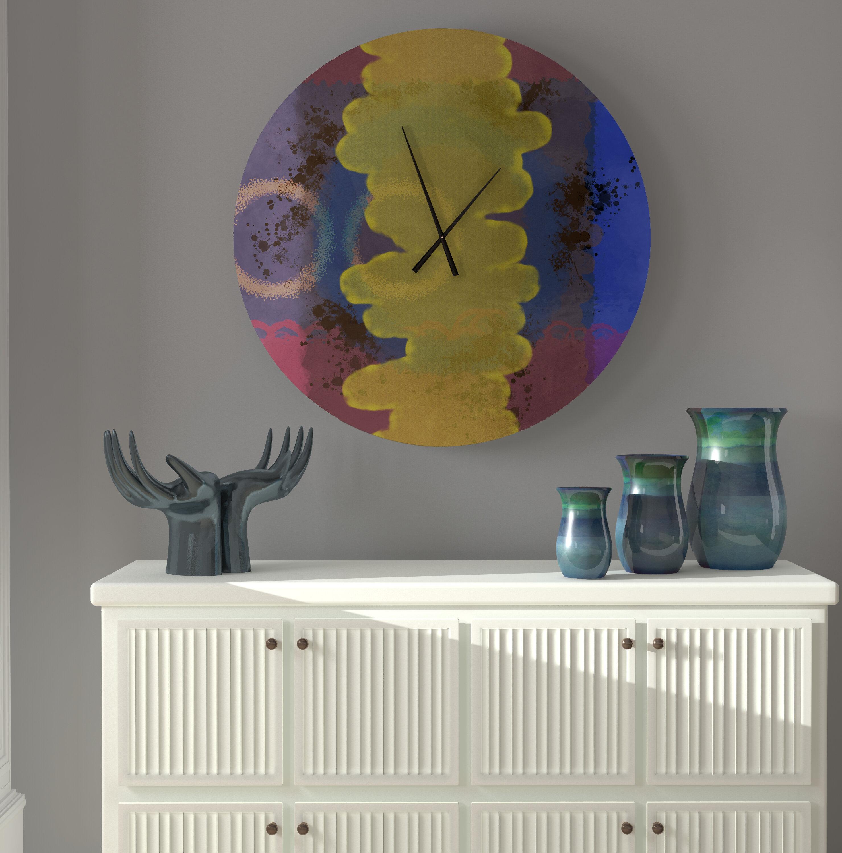 East Urban Home Oversized Veun Wall Clock Wayfair