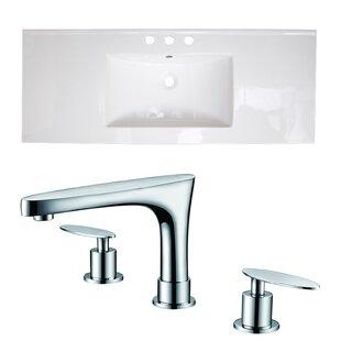 Review Ceramic 48 Single Bathroom Vanity Top by American Imaginations