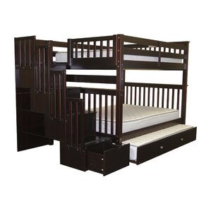 Whirlpool Full over Full Bunk Bed with Full Trundle by Viv + Rae