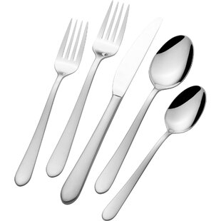 Alexander 45 Piece 18/10 Stainless Steel Flatware Set, Service for 8