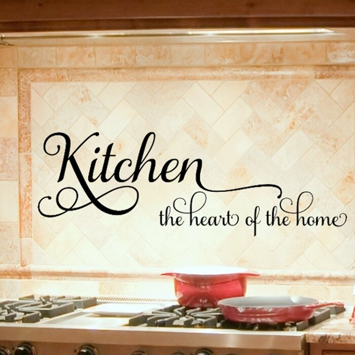 Kitchen the Heart of the Home Kitchen Wall Decal