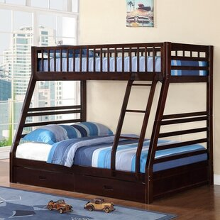 Izaiah Twin over Full Bunk Bed with Storage by Harriet Bee