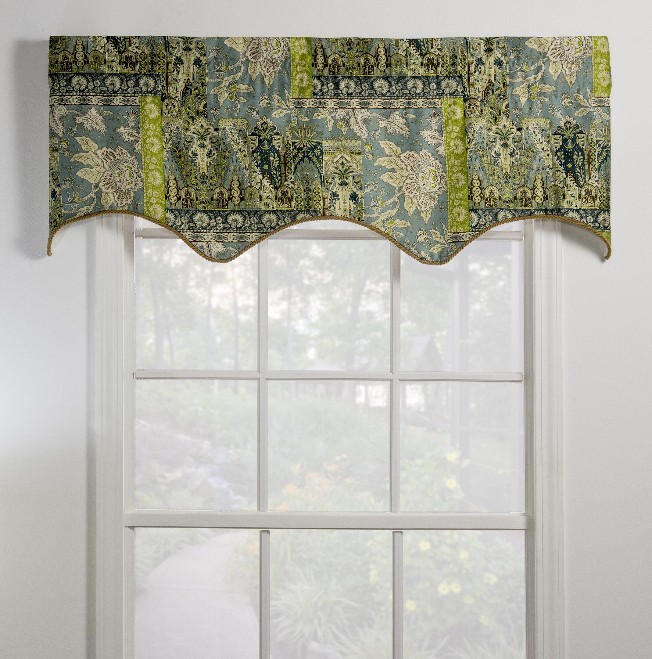 Thomasville At Home Tangier Lined Empress Filler 50 Window Valance Wayfair