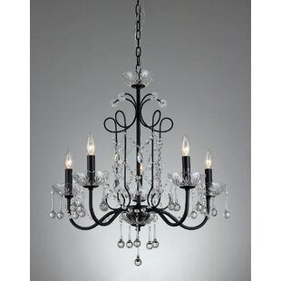 Warehouse of Tiffany Donna 5-Light Candle Style Chandelier