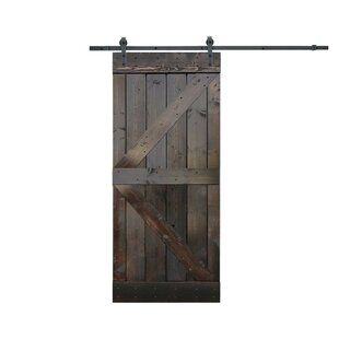 Paneled Wood Knotty Pine Solid Interior Diy Slab Barn Door With Installation Hardware Kit