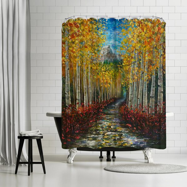 East Urban Home Olena Art Nelly Creek Single Shower Curtain Wayfair