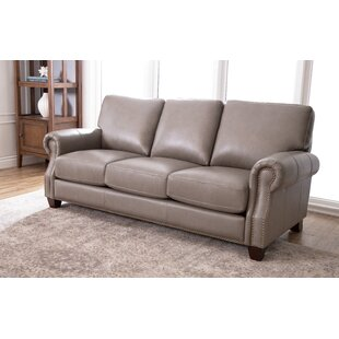 Carthage Leather Sofa Darby Home Co