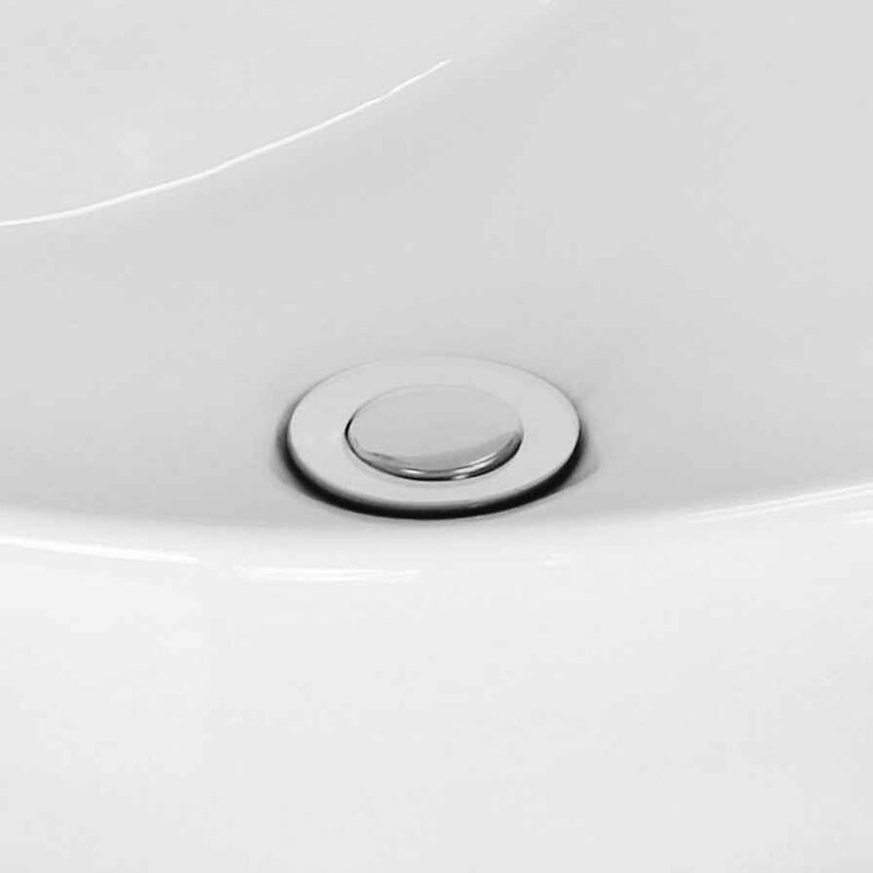 "Ceramic 17.5"" Wall Mount Bathroom Sink with Faucet"