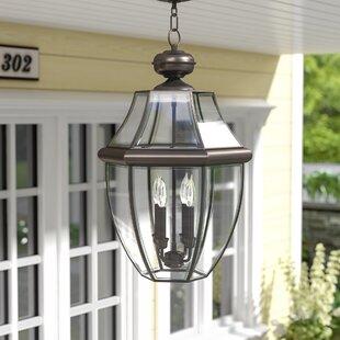 Three Posts Gustavson 4-Light Outdoor Hanging Lantern