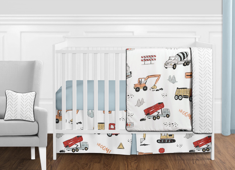Sweet Jojo Designs Construction Truck 11 Piece Crib Bedding Set Reviews Wayfair