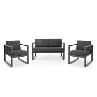 Mirando 3 Piece Conversation Set with Cushion by Mercury Row