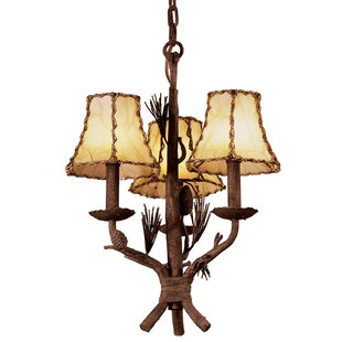 Kalco Ponderosa 3-Light Shaded Chandelier