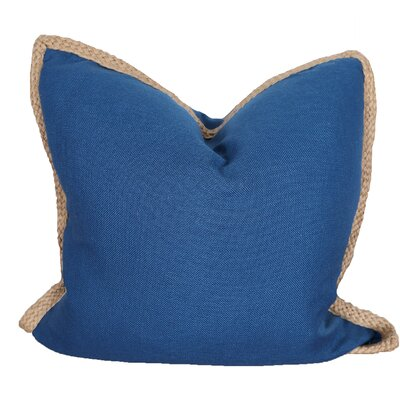 Breakwater Bay Aramantha Feathers Throw Pillow Colour: Navy Blue