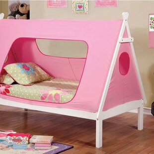 Reviews Okelley Teepee Tent Twin Platform Bed by Zoomie Kids Reviews (2019) & Buyer's Guide
