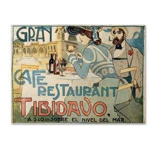 u0027Grand Cafeu0027 Wall Art on Wrapped Canvas  sc 1 st  Wayfair & Italian Cafe Wall Art | Wayfair